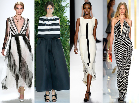 Black and White Trend, New York Fashion Week